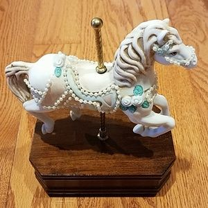Other - Porcelain Carousel Horse Music Box